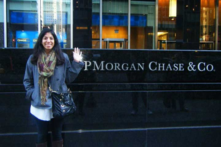 College Grad working at JPMorgan