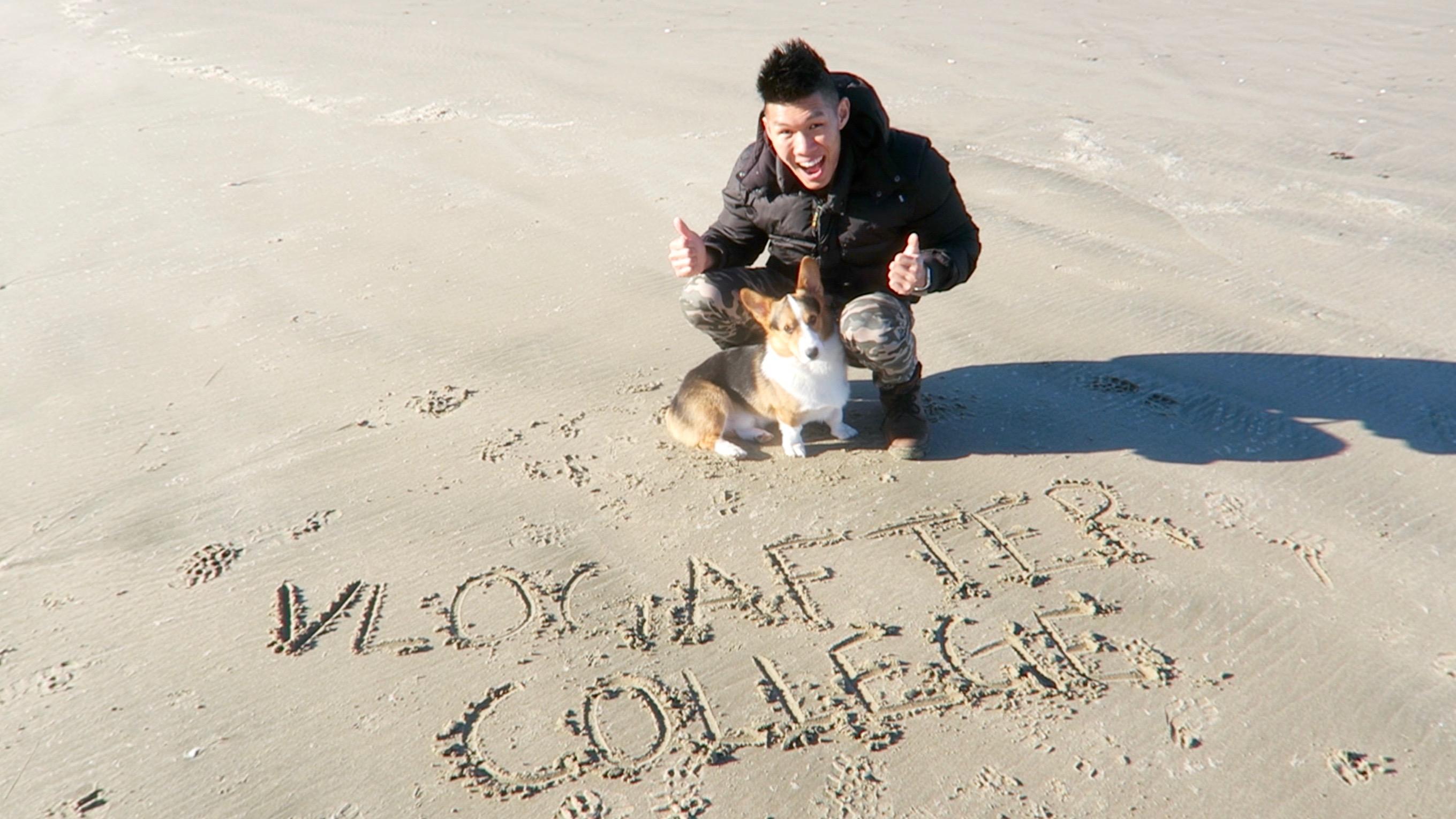 DOG'S HAPPIEST LIFE MOMENT: CORGI HAS A BLAST ALONE ON BEACH