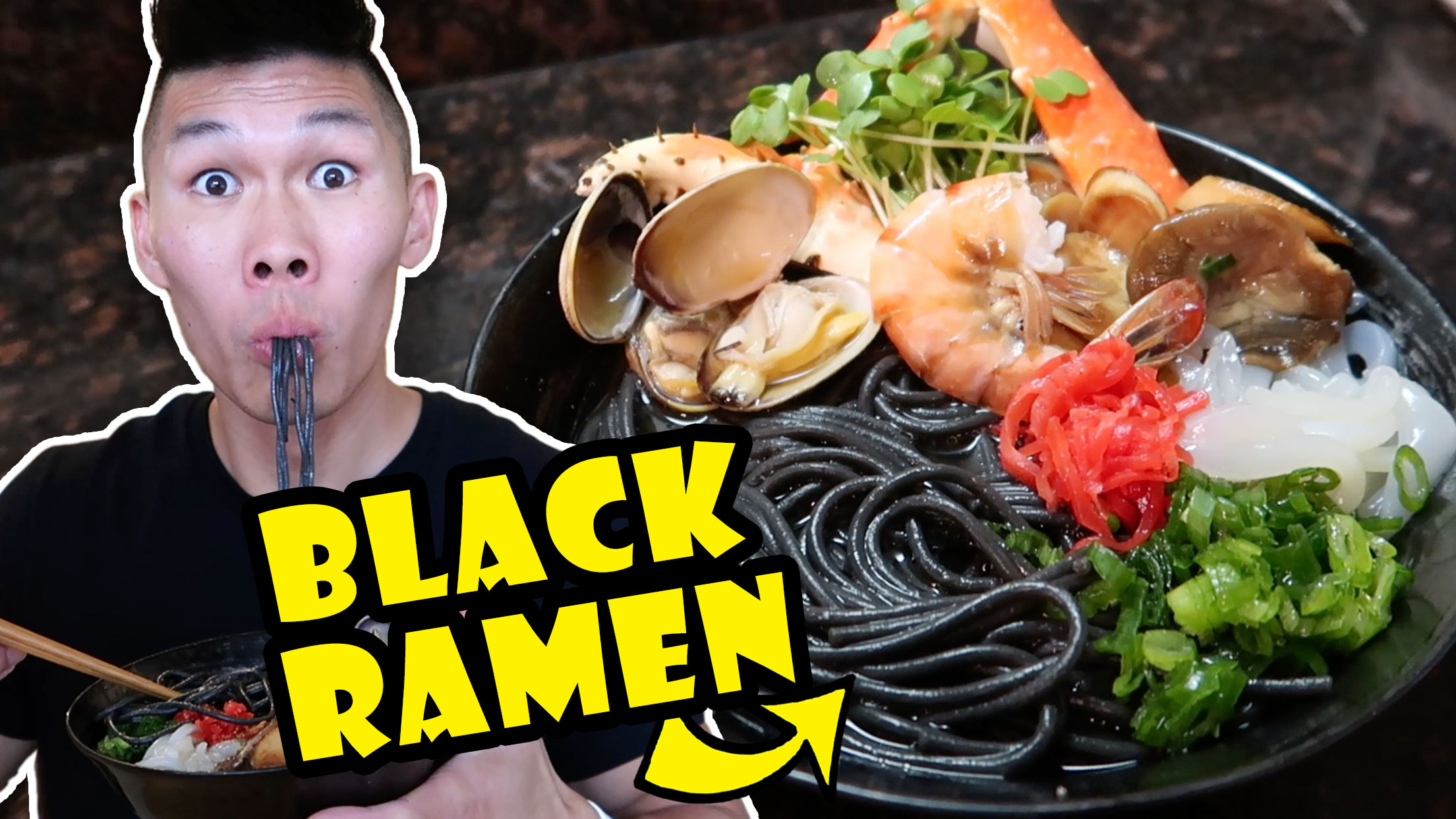 BLACK RAMEN NOODLES + SEAFOOD RECIPE UPGRADE